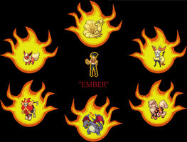 [Request] Ember and her team by ToxShadows642