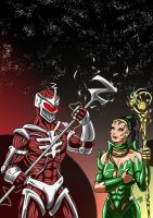 Power Rangers - Lord Zedd and Rita by adamantis