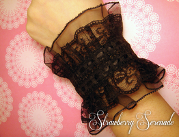 Black Lace Cuff by Strawberryserenade