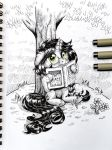 Inktober 2017 [Day 17] - Under The Tree by Helmie-D