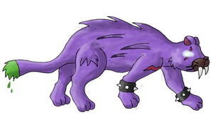 Saber-toothed tiger fakemon by Shaymin-Lea