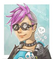 Overwatch Tracer PunkSkin by west-24