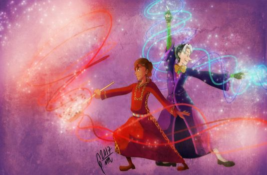 Royal Sorcerers (Cedric and Mateo) by Gini-Gini