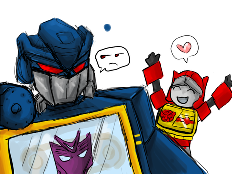 Blaster and Soundwave by TeratheTerror