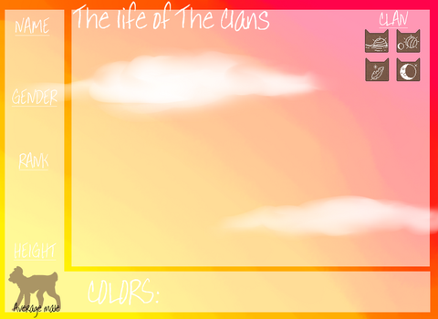 Thelifeoftheclans application by LaurenBlu