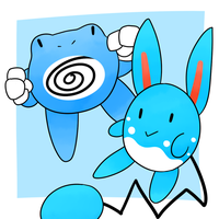 Poliwrath and Azumarill