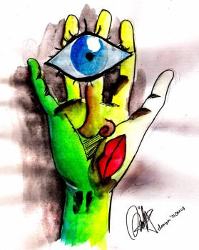 hand or face by donyaeuy