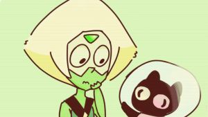 Peridot and cookiecat by ThaAwesomeWolf