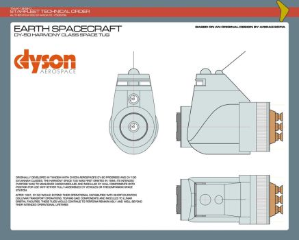 Dyson AeroSpace DY-50 Harmony Class Space Tug by JBogguess
