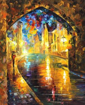 Old Town 2 by Leonid Afremov by Leonidafremov