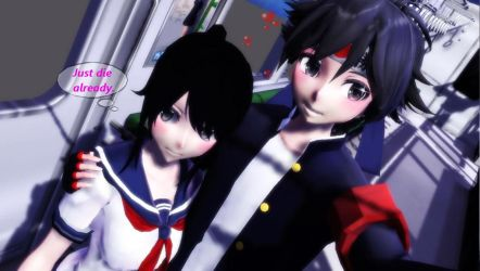 MMD-Yandere Simulator-Happy thoughts by Stefy5000