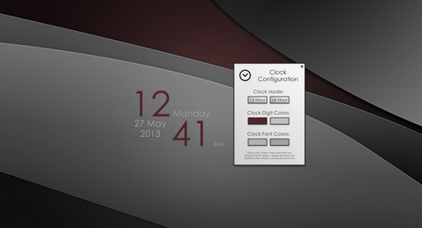 Tributes Clock v2.1 for Rainmeter by FiiZzioN