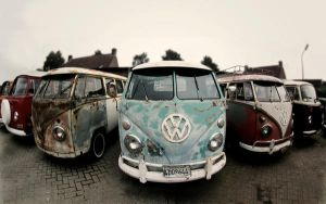Old VW Transporter vans 2 by Sjoewe