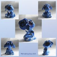 Baby Blue Water Dragon by BittyBiteyOnes