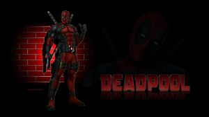 Deadpool Wallpaper - Brick Wall 2 by Curtdawg53