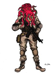 Octopus Soldier by TheLivingShadow