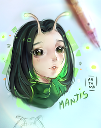 Mantis - Fan art by Antama