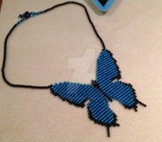Butterfly Necklace, Turquoise by WhiteMagicPriestess