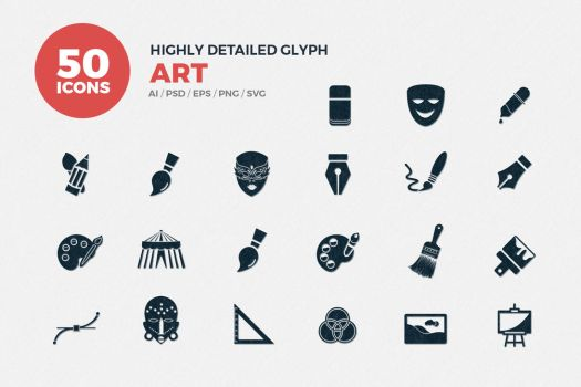 JI-Glyph Art Icons Set by jumboicons