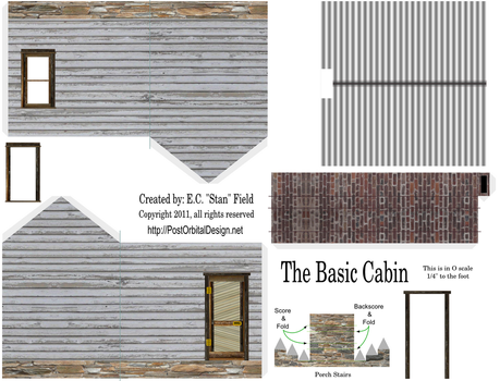 Cardstock Cabin by ecfield