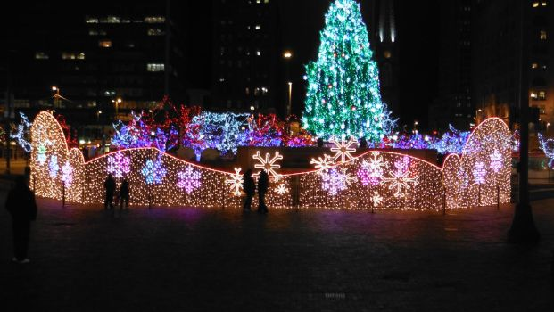 Festive Lights in the City by MGuitarBass