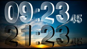Real 3D Clock Transparent for xwidget by Jimking