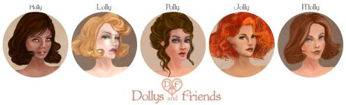 Dollys and Friends Banner by BasakTinli