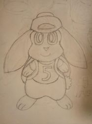 My Bunny Character I drawn! :3 by EeveeProtect