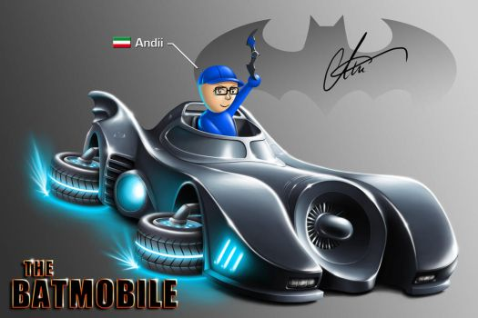 MK8 Batmobile for my friend Andii by LierACC