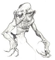 Pumpkinhead Sketch by D-Angeline