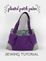 Sewing Tutorial - The Pleated Patch Purse by SewDesuNe