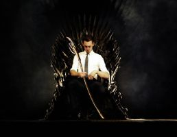 King on the throne by blackiebloodred