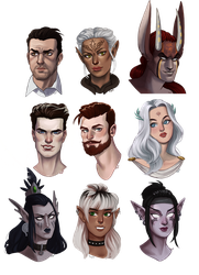 commissioned portraits pt.1 by cut-box