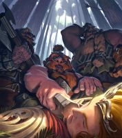 Dwarves and The Lost Elf by Rosolino