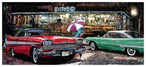 South Beach Diner Meetup by ferrariartist