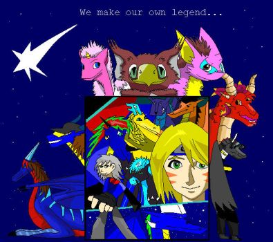 Group pic: Our own legend by DragonJuno
