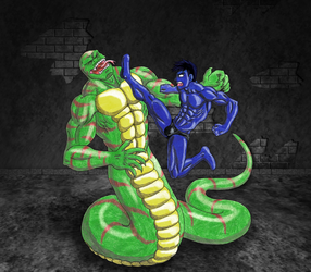 Zboy vs King Snake 1 - Color by 09tuf