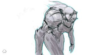 Samus sketch by WyntonRed