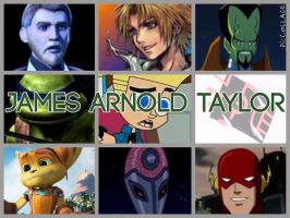 James Arnold Taylor Characters by PhantomEvil
