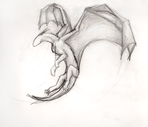 Simple Flying Dragon by ThousandWordsToSay