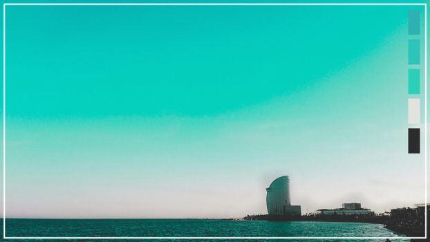 Barcelona Turquoise Wallpaper by TonyKGFX