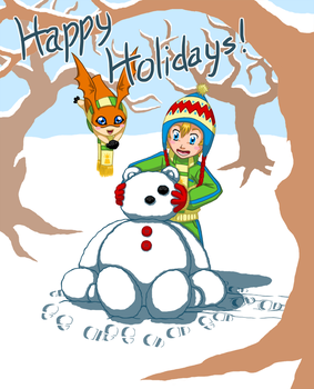 Digimon - Happy Holidays by GwydionAE