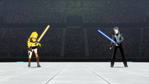 RWBY Star Wars - Yang and Mercury with Lightsabers by RaidenRaider