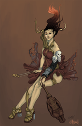 Violinist of Purgatory-color by AngryPotato