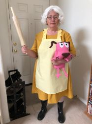 Muriel cosplay:  Courage the Cowardly Dog by Darkus04