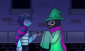 *You give Ralsei a Golden flower [Deltarune] by Uketello