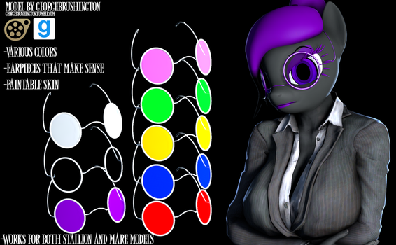 [SFM/GMOD DL] Round glasses! (With earpiece) by GBrushAndPaint