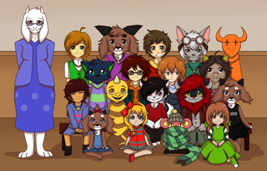 NT's interlude - School year group picture by Niutellat