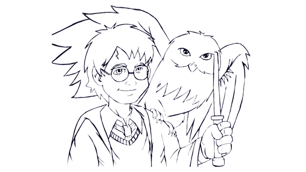 Draw Harry Potter by vcdesenhos
