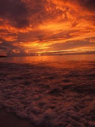 Sunset at Dickenson Bay by spiralx